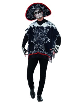Day of the dead bandit kostyme, unisex