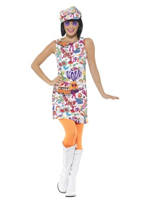 60-talls groovy chick kostyme