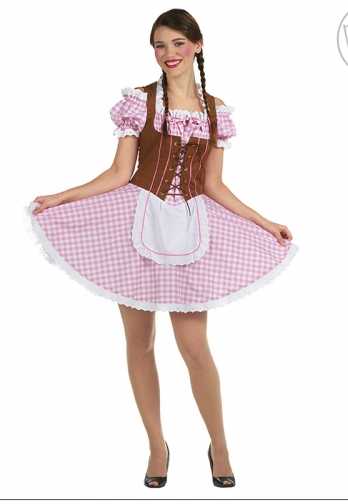 05b0f910 Oktoberfestkjole med brunt korsett. - A Oksnes AS
