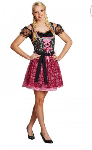 bc2d29ea Oktoberfestkjole med rosa blondeforkle - A Oksnes AS