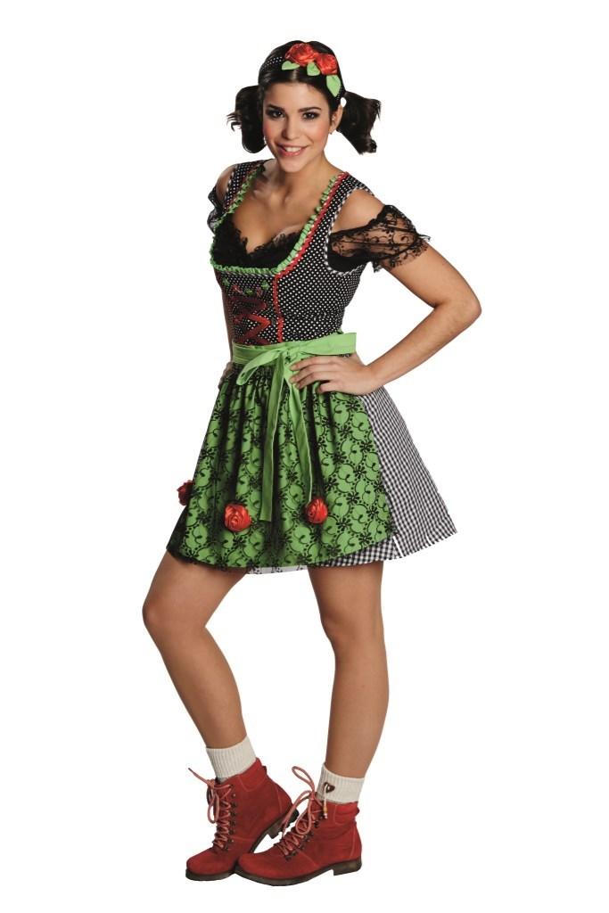 d4b1f327 Oktoberfestkjole med svart rutet skjørt - A Oksnes AS