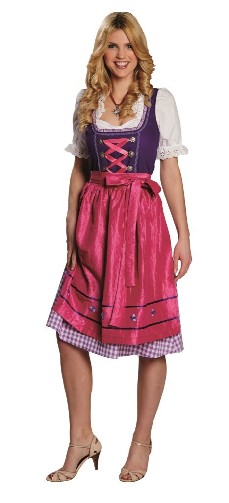 dd609243 Oktoberfestkjole lilla med rosa forkle - A Oksnes AS