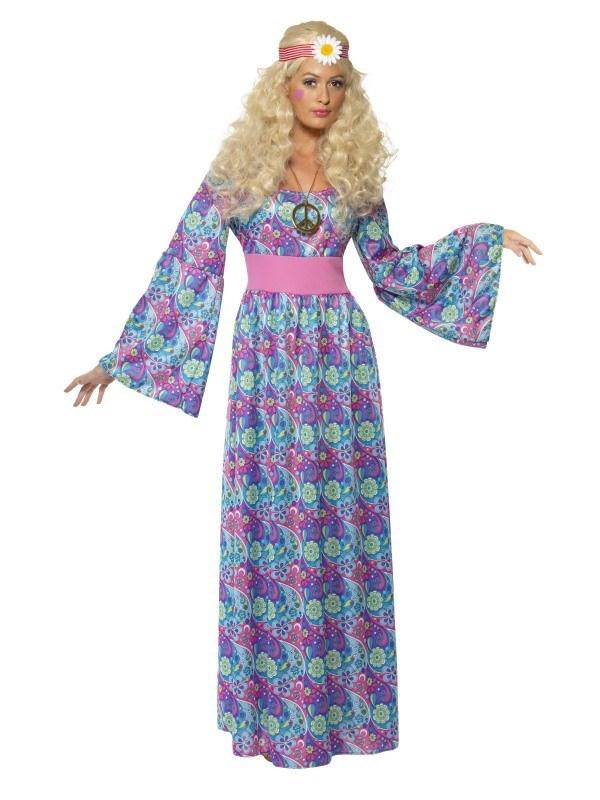 6c584fe1b21c Hippie kjole med blomster