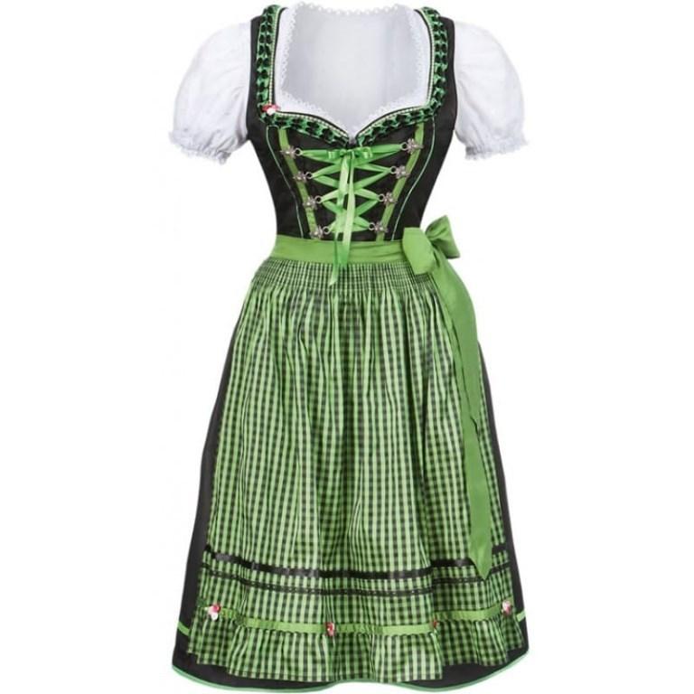 66add89d Dindrl oktoberfestkjole med grønt forkle, Plus Size. - A Oksnes AS