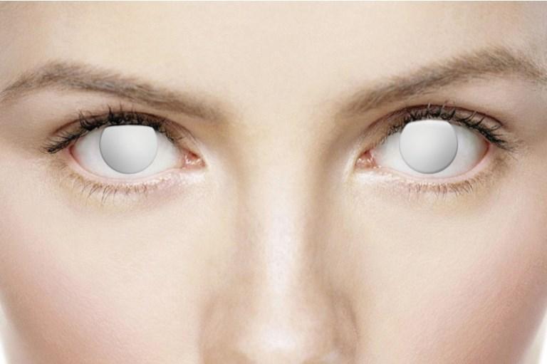 blind white linser